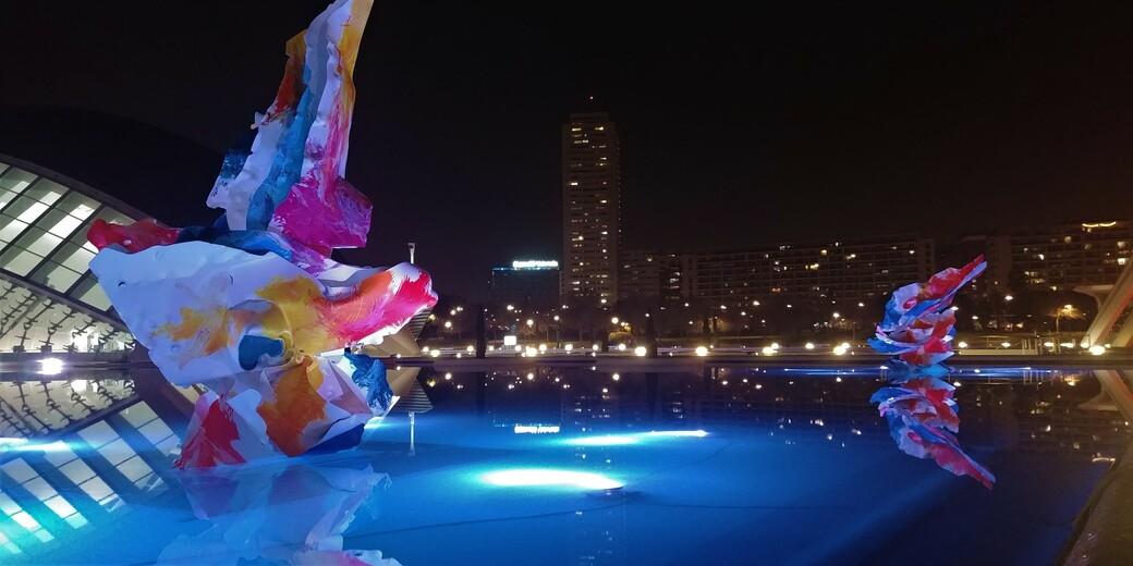 Ciudad in Valencia mit Kunst
